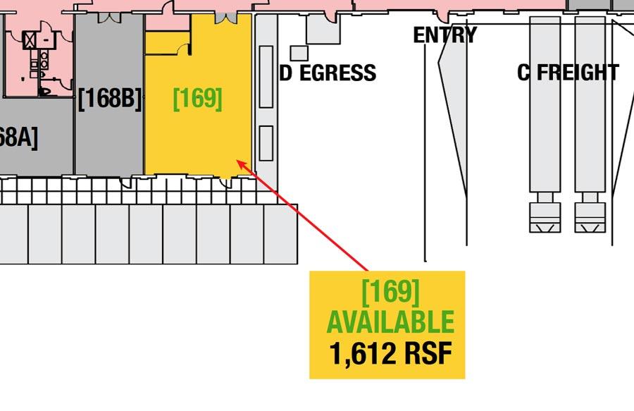 SUITE 169 - 1,612 SF